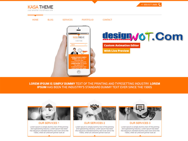 kasa Responsive WordPress Theme