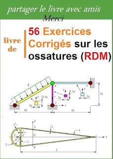 56 Exercices Corrigés sur les ossatures (RDM) pdf
