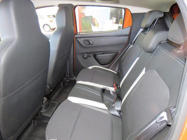 Renault Kwid 2018 - espaço interno traseiro