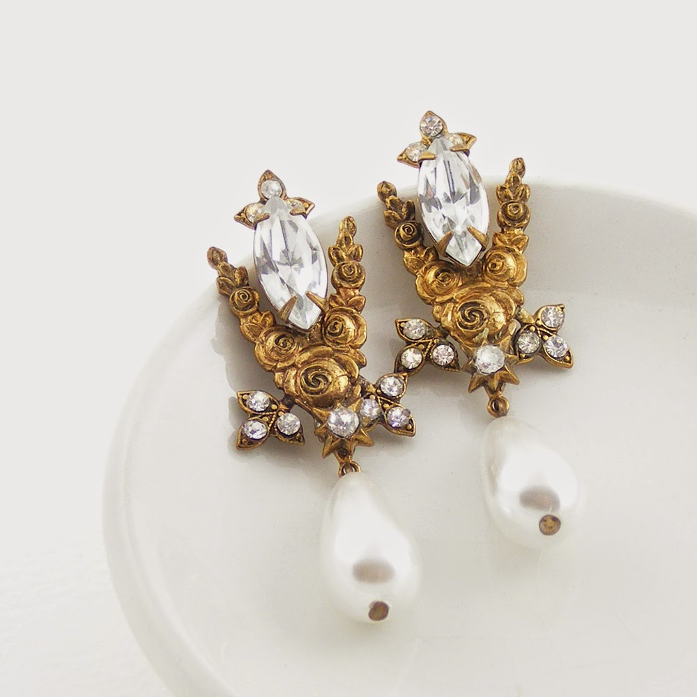 Belle Epoque Style Earrings by Blucha Jewels