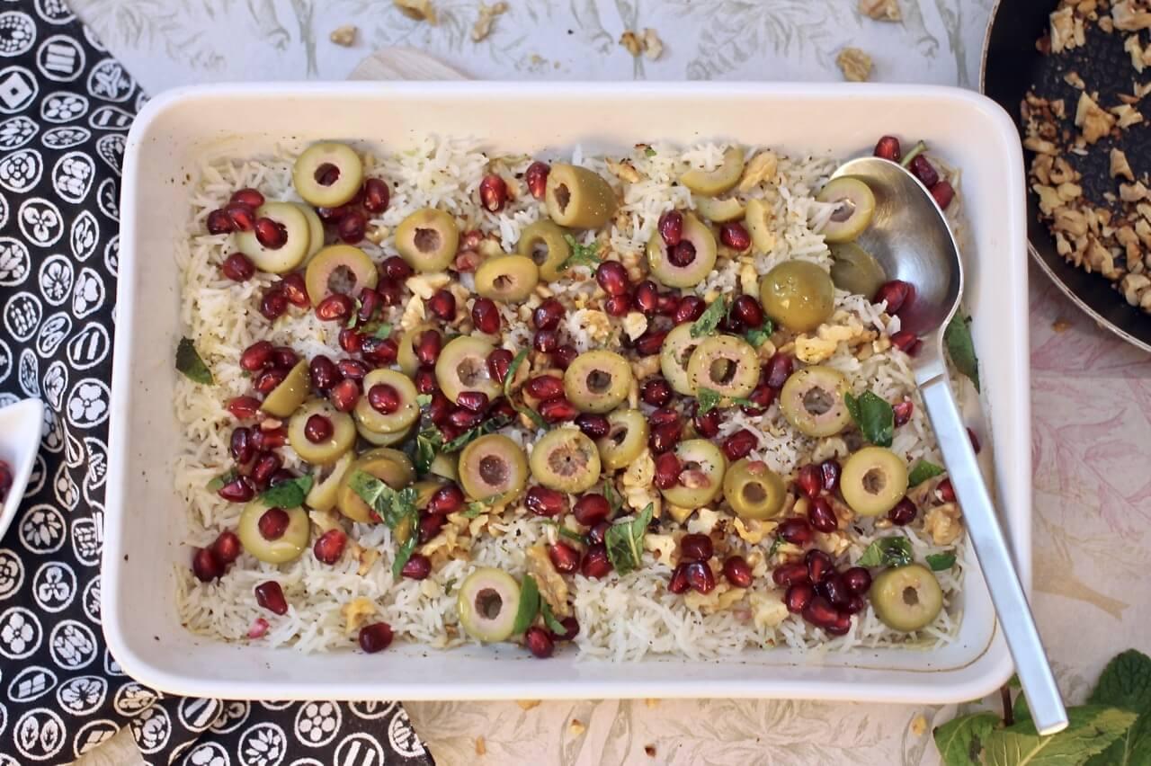 Gebackener Reis mit pikanter Salsa Rezept