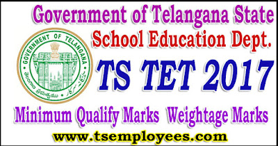 TS TET Cut off Marks Minimum Qualify Marks TET Weightage marks of calculation