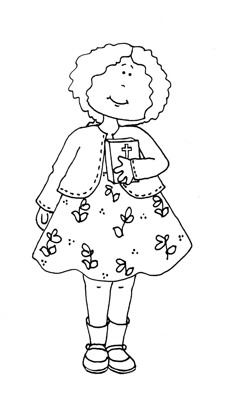 Free Dearie Dolls Digi Stamps: Sunday School Girl color