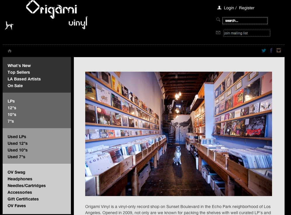 origami origami vinyl 39 s online shop is here. Black Bedroom Furniture Sets. Home Design Ideas