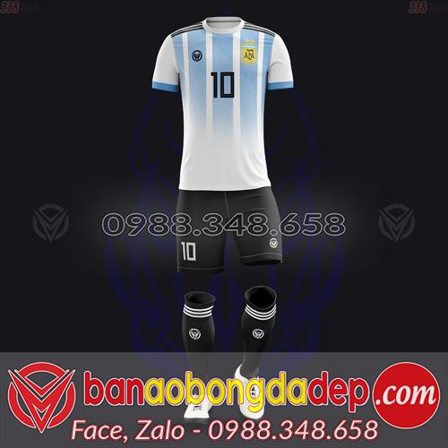 Áo Đội Tuyển Đặt May Theo Yêu Cầu - Mã ARGENTINA-02