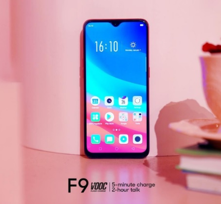 smartphone oppo f9,  Layar OPPO F9 Teknologi fast charging VOOC flash charge OPPO F9