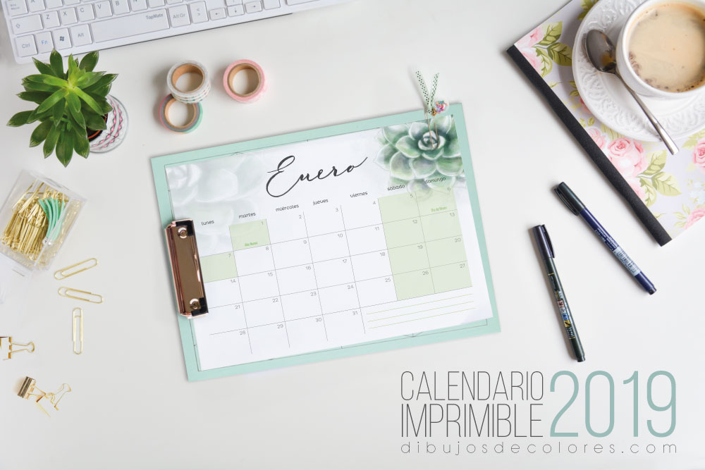 Calendario imprimible 2019