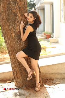Actress Poojitha Pallavi Naidu Stills in Black Short Dress at Inkenti Nuvve Cheppu Movie Platinum Disc Function  0264.JPG