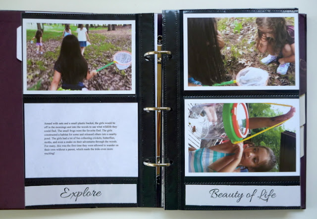 Photo Pocket Album Page with Typed Journaling and Photo Captions