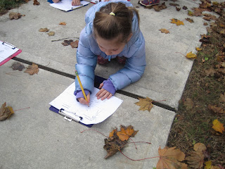 Student recording living and nonliving