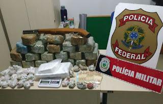 Policia apreende 37 kg de drogas durante ações do fim de semana na Paraíba