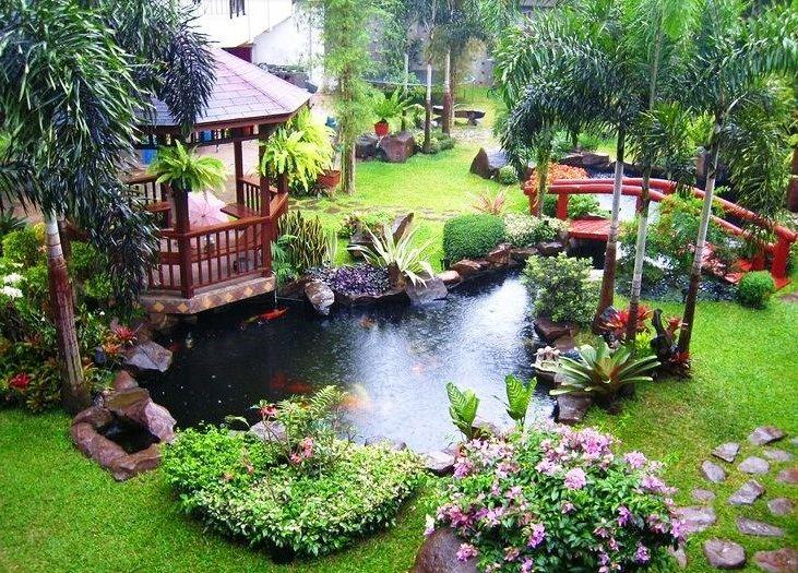 Model Desain Taman Rumah Mewah