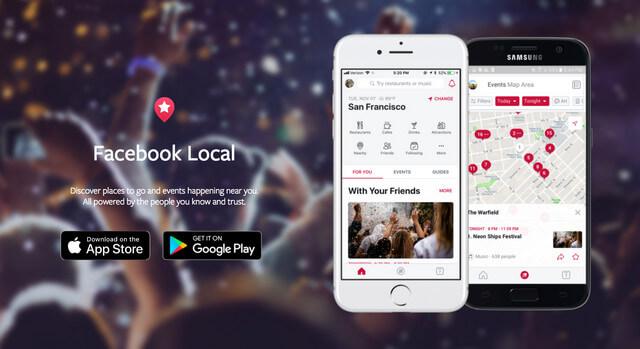 Facebook lança aplicativo local