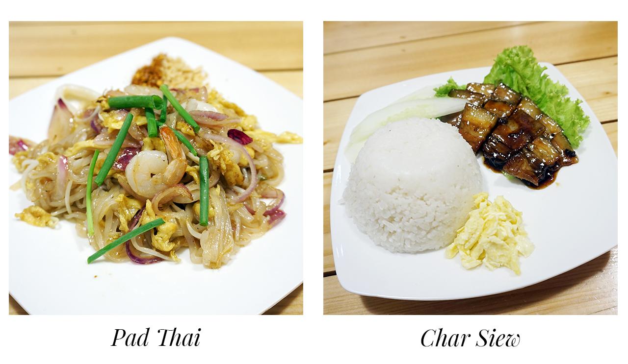 Go Thai Bistro serves Pad Thai and Char Siew.