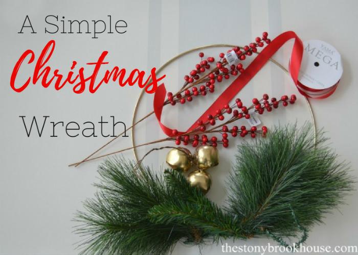 A Simple Christmas Wreath