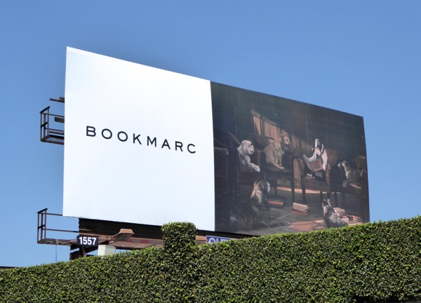 Bookmarc Dog book club billboard
