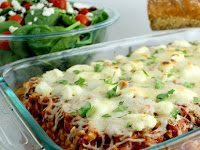 Baked Ziti With Spinach, Zucchini and Mushrooms
