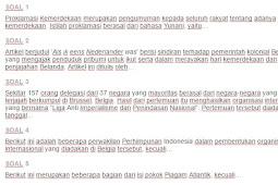 Contoh Soal Proklamasi Kemerdekaan sebagai Penegakan Hak Bangsa Indonesia