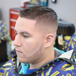 Thin hairs with side fade