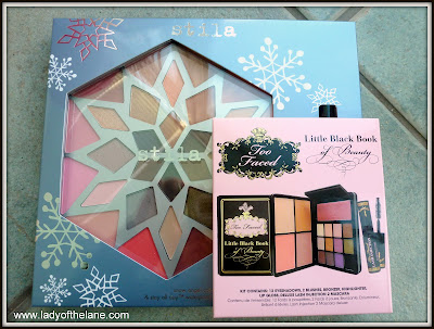 Too Faced Little Black Book of Beauty and the Stila Snow Angel Palette