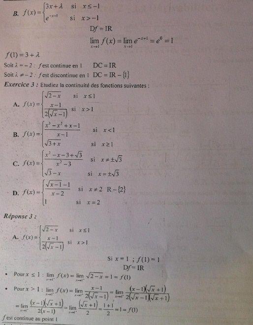 Analyse Mathématique I