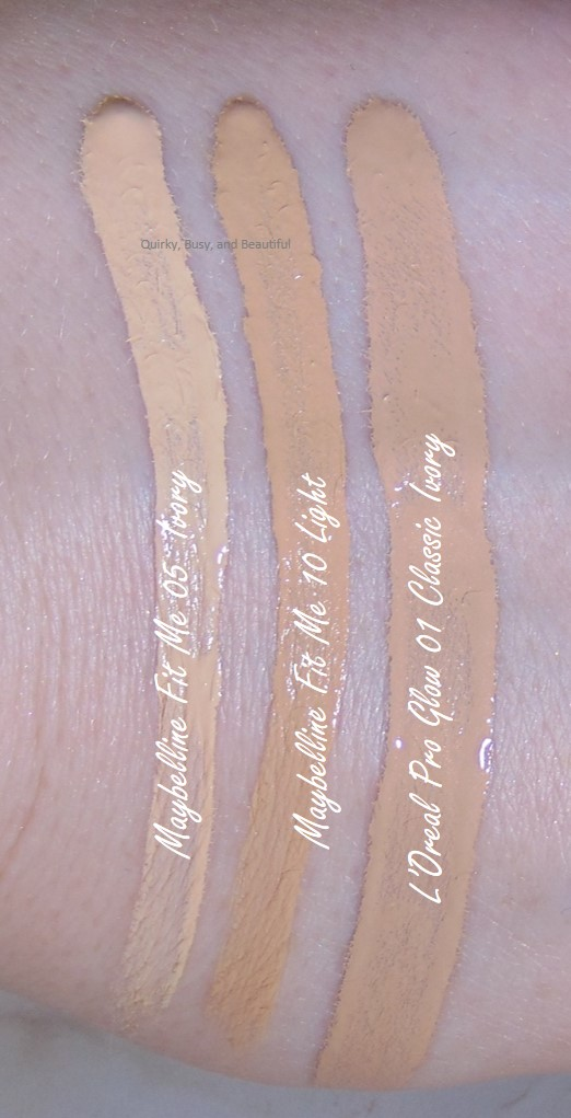 Quirky, Busy, and Beautiful: Maybelline Fit Me Concealer Shade ...