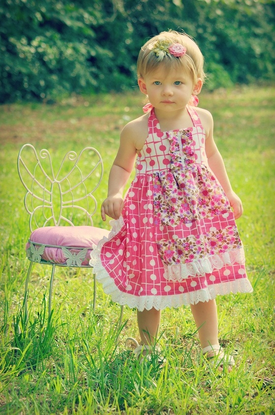 Sewing Patterns for Girls Dresses and Skirts: Apron Dress Sewing ...