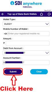 easily add money in sbi buddy wallet through sbi anywhere app