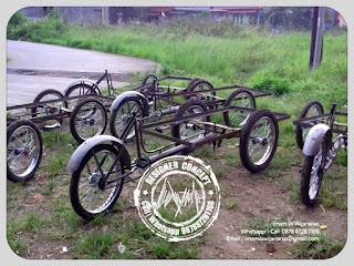 kerangka produksi gerobak sepeda