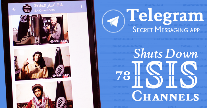 Telegram — Secret Messaging app — Shuts Down 78 ISIS Channels
