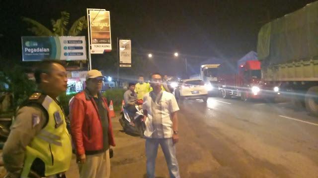 Arus Mulai Padat, Polres Lamteng Urai Kemacetan Dengan Jalur Alternatif