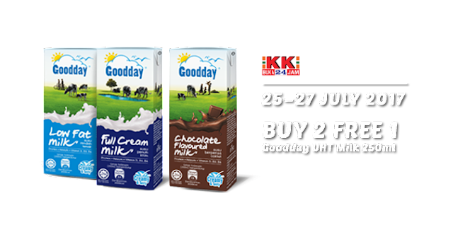 KK Mart Goodday UHT Milk 250ml Buy 2 Free 1