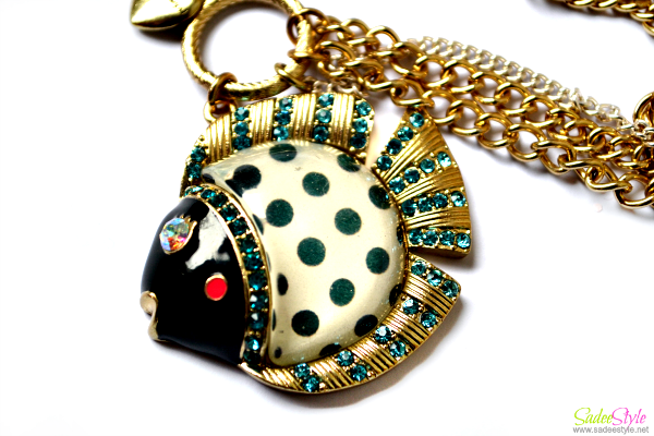 Stylish Spot Fish Pendent Chain Necklace