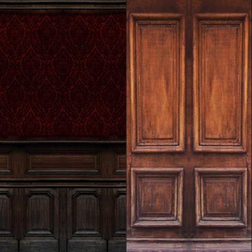 TS3 - Old Wood Walls ~ Noir and Dark Sims Sims 1 Walls