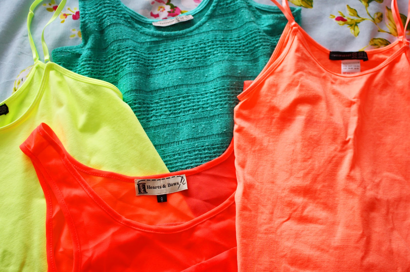 Bright coloured tops perfect for the Summer