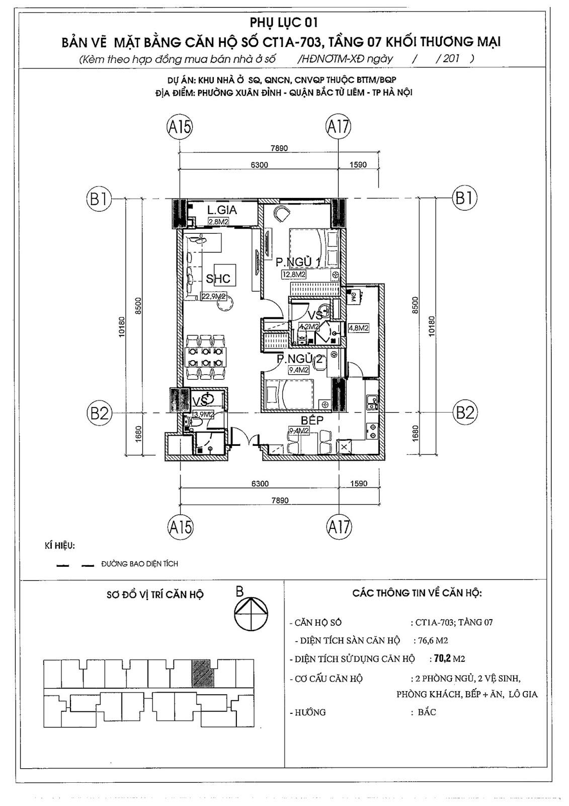 [ Mẫu thiết kế bản CAD căn hộ 03 | Chung cư 789 Xuân Đỉnh ]