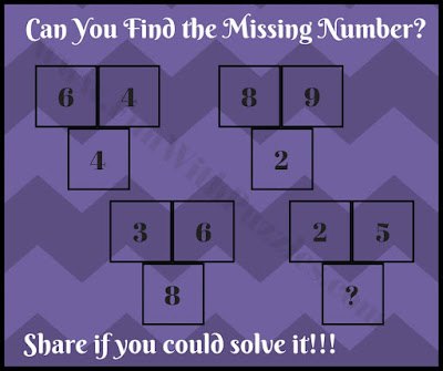 Tricky math picture puzzle riddle