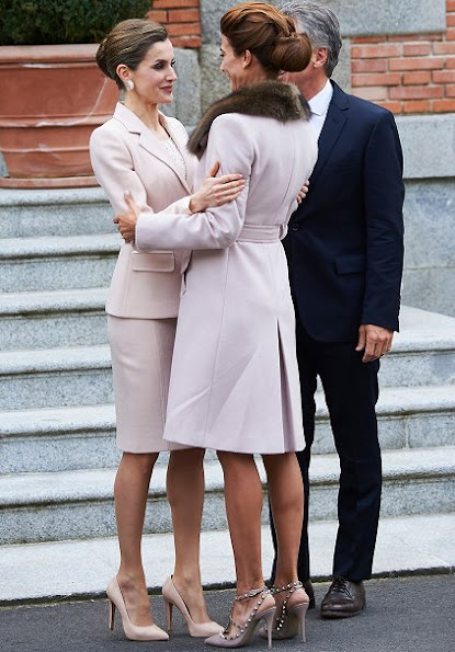 King Felipe, Queen Letizia of Spain, Argentina's President Mauricio Macri and wife Juliana Awada attended an official lunch at Palacio de la Zarzuela