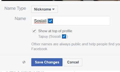 Tanda centang biru verifikasi facebook