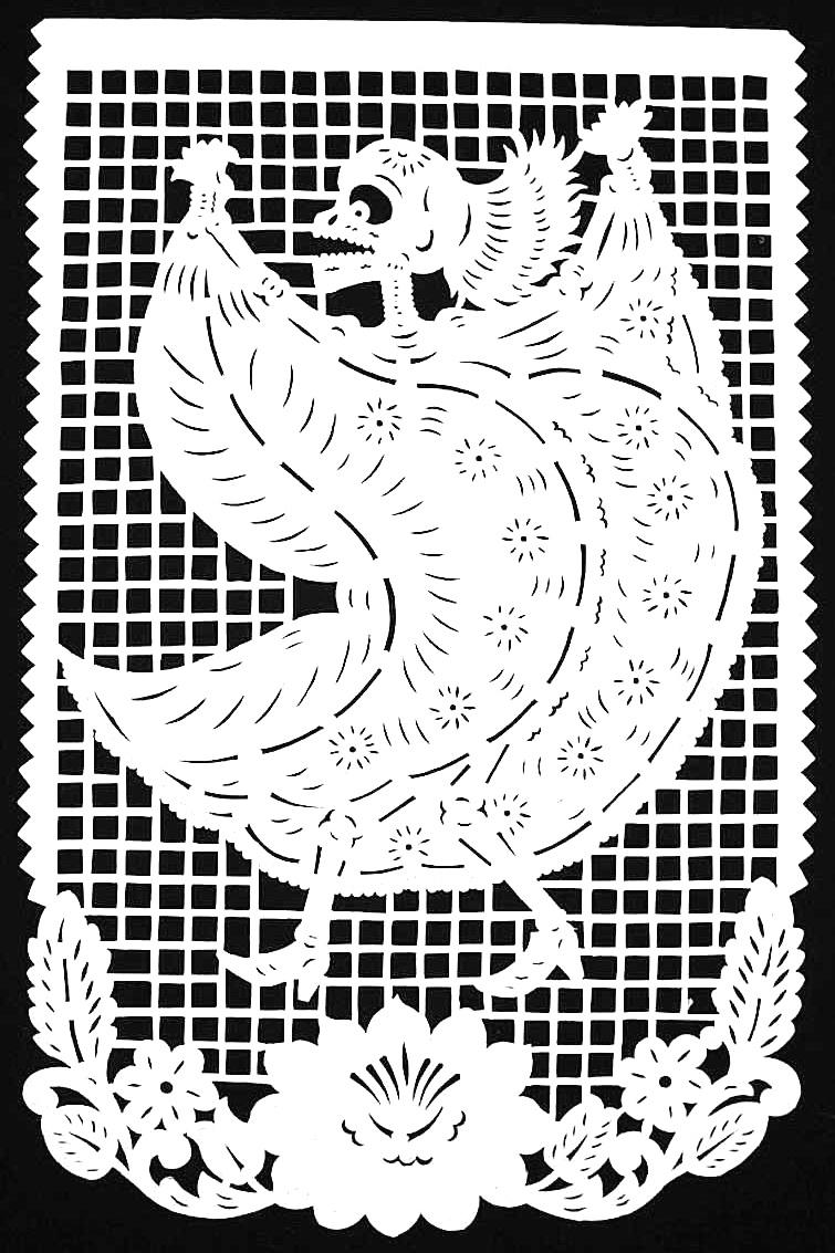 A papercut skeleton