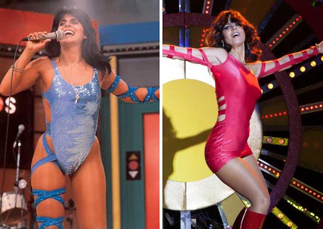 Gretchen nos anos 80 e de rosa Emanuelle Araujo em Bingo