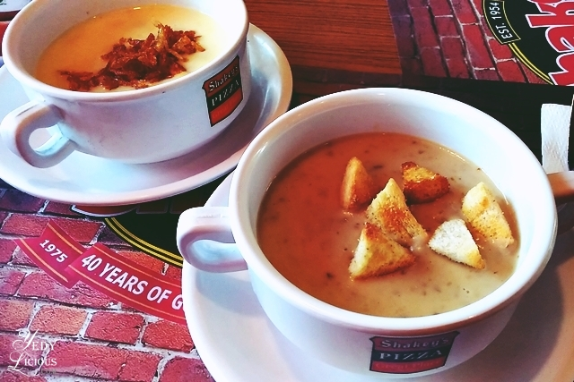 Shakey's Chicken and Corn Soup, Mushroom Soup