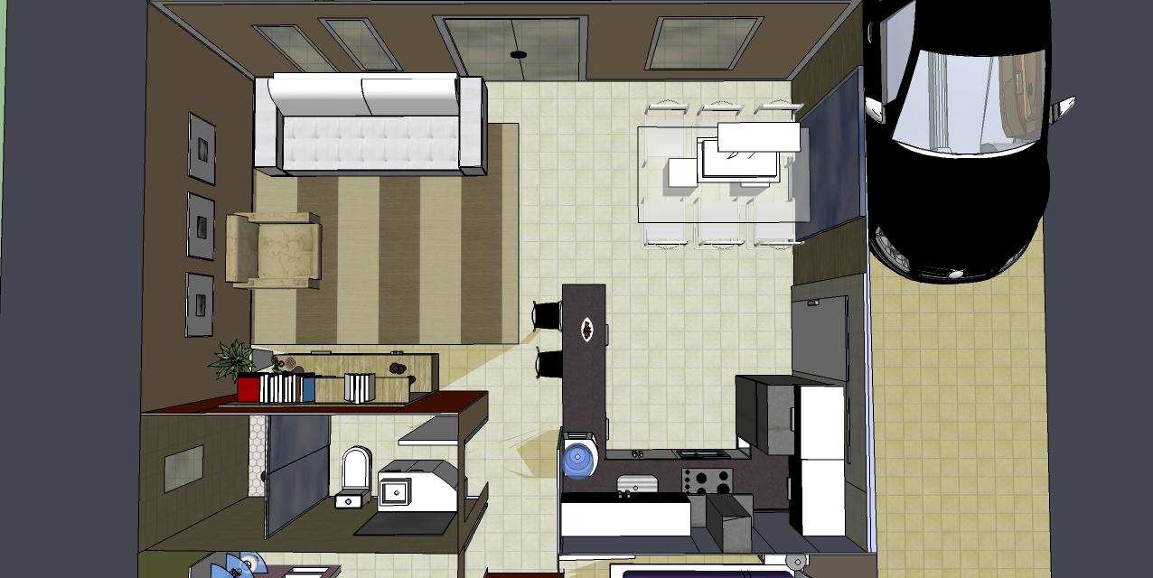 Sala Cozinha Conjugada Pequena With Sala Cozinha Conjugada Pequena  -> Quarto Sala E Cozinha Conjugadas