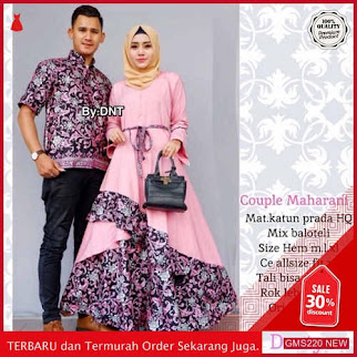 GMS220 BTKBR220B134 Batik Couple Maharani Terbaru Dropship SK1628337369