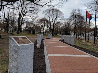 Veterans Memorial Walkway on the Franklin Town Common
