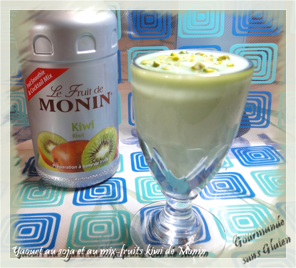 Yaourt de soja au mix-fruit Kiwi de Monin