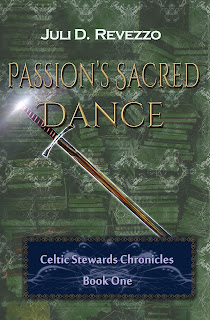 Passion's Sacred Dance, by Juli D. Revezzo, Pagan paranormal fiction, pagan paranormal romance, borrow with Amazon Prime