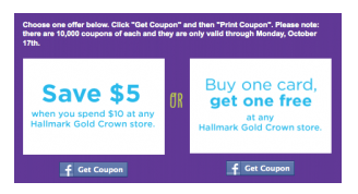 picture relating to Hallmark Coupon Printable called Cut price is the Contemporary Black: Fb: Printable Coupon