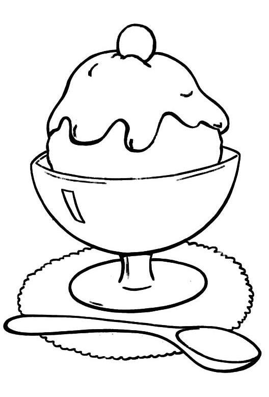 Tranh tô màu cốc kem ly