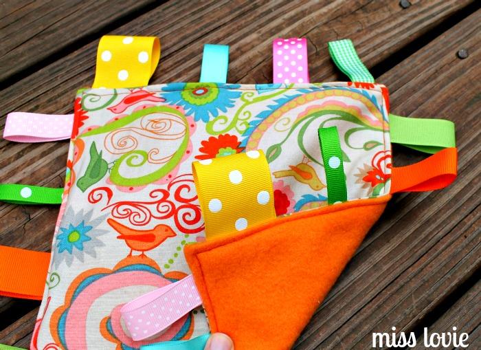Miss Lovie Crinkle Tag Toy Easiest Diy Baby Toy Ever
